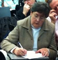 Isabelle Déo en réunion du groupe Interfédéral Handicap