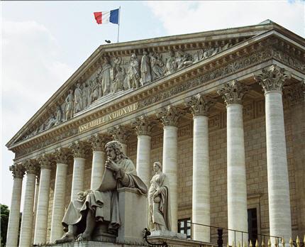 Façade du palais Bourbon - Assemblée Nationale